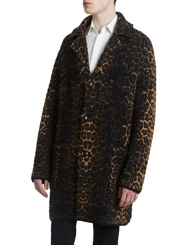 Men's Leopard Sweater Jacket