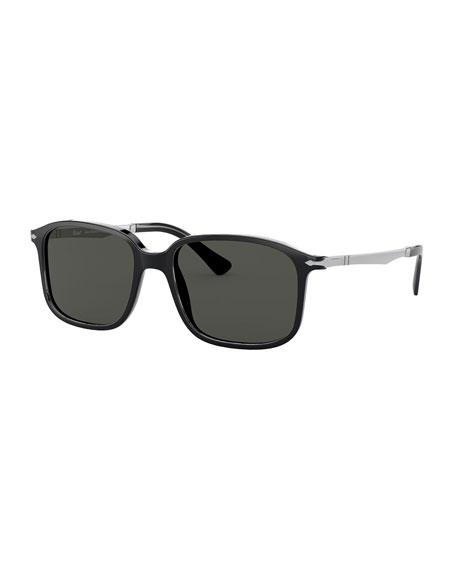 Persol Men's Square Acetate Sunglasses