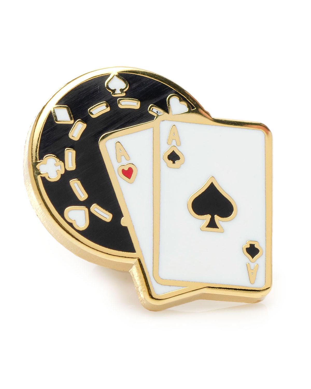 Men's Poker Lapel Pin