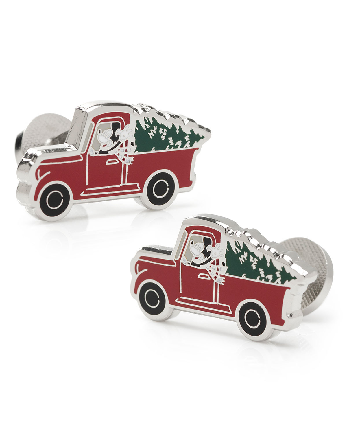 Men's Mickey Mouse Holiday Truck Cufflinks