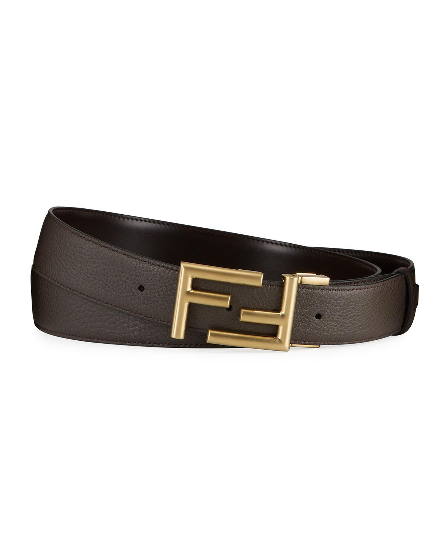Men's FF-Buckle Leather Belt