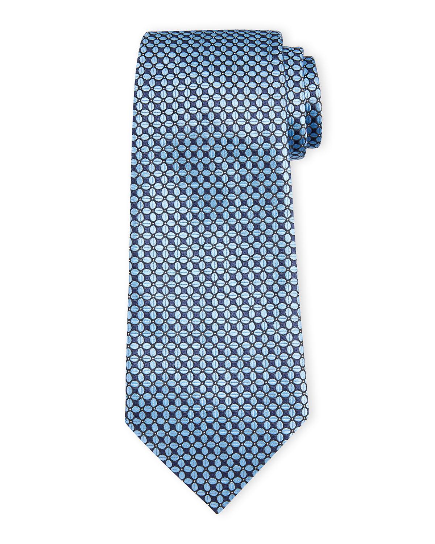 Men's Connected Ovals Silk Tie