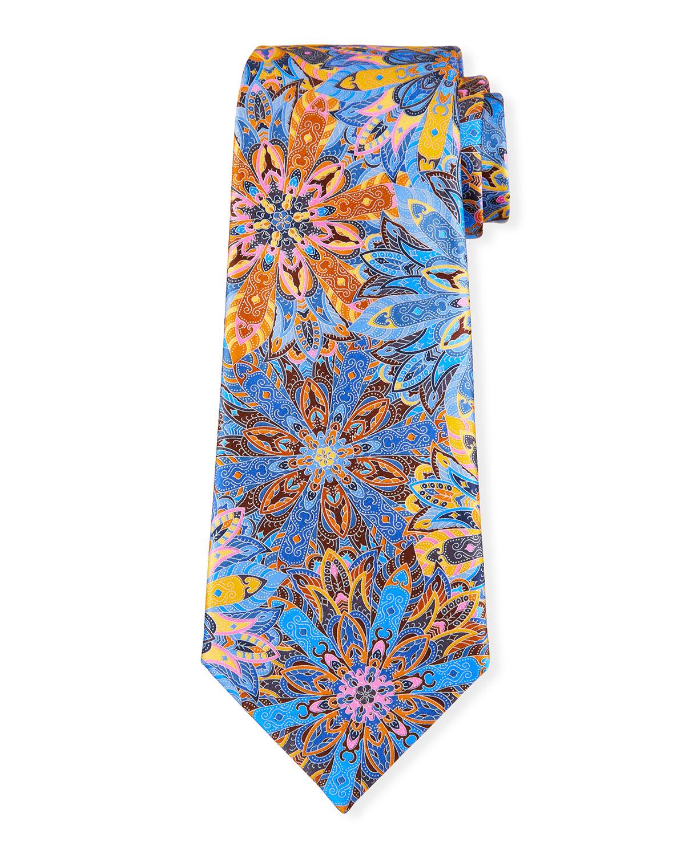 Men's Flowers Silk Tie