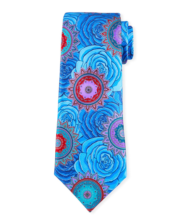 Men's Roses Silk Tie