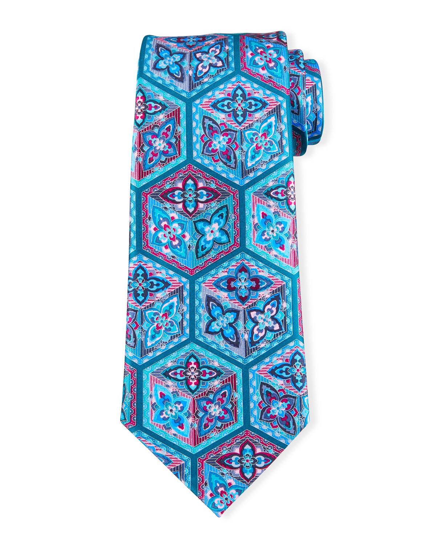 Men's 3D Boxes Silk Tie