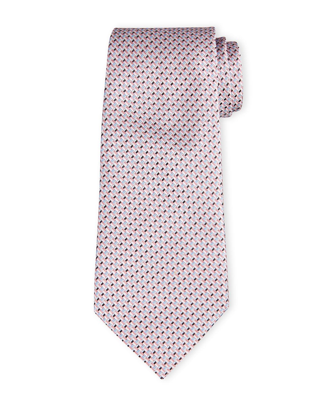 Men's Basketweave Fancy Silk Tie