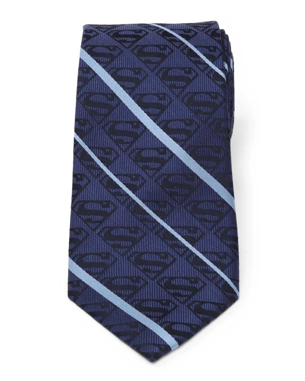 Men's Superman Striped Silk Tie