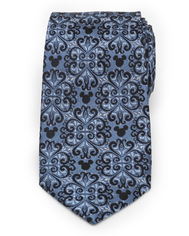 Men's Mickey Mouse Damask Tile Silk Tie