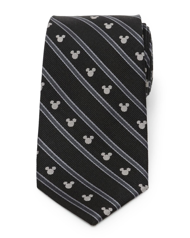 Men's Mickey Mouse Striped Silk Tie