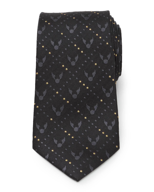 Men's Harry Potter Golden Snitch Silk Tie