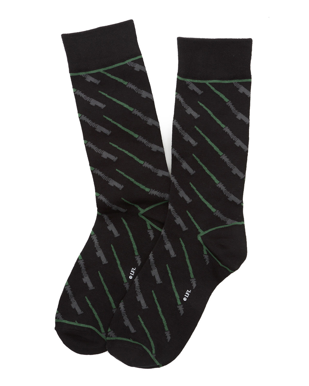 Men's Star Wars Green Lightsaber Socks