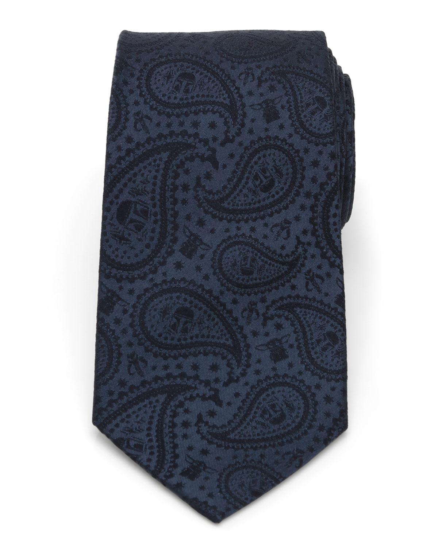 Men's The Mandalorian & The Child Paisley Silk Tie