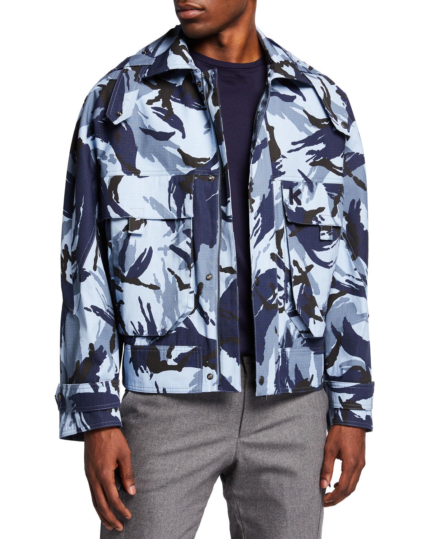 Men's Camo-Print Cropped Jacket