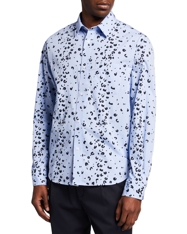 Men's Overprinted Casual Sport Shirt