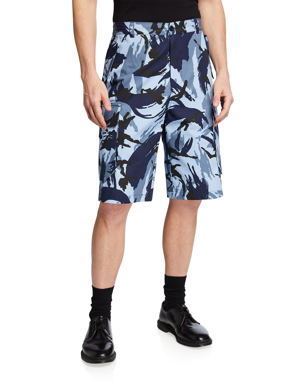 Men's High-Rise Camo Cargo Shorts