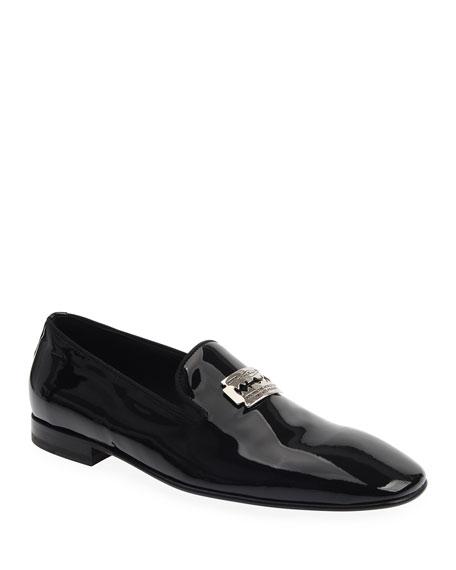 John Richmond Men's Razor Patent Leather Loafers