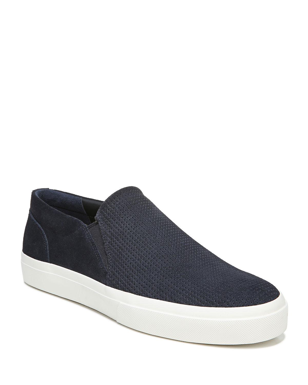 Men's Fletcher Perforated Suede Slip-On Sneakers