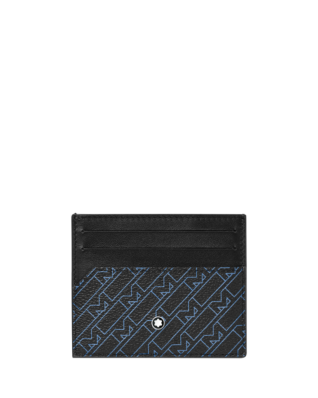 Men's Monogram Print Leather Card Holder