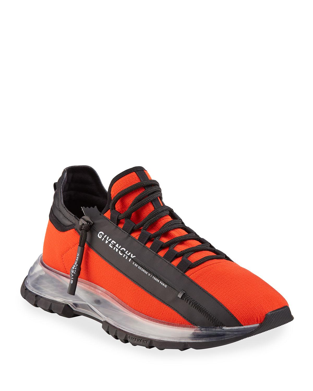 Men's Spectre Zip Runner Clear-Sole Sneakers