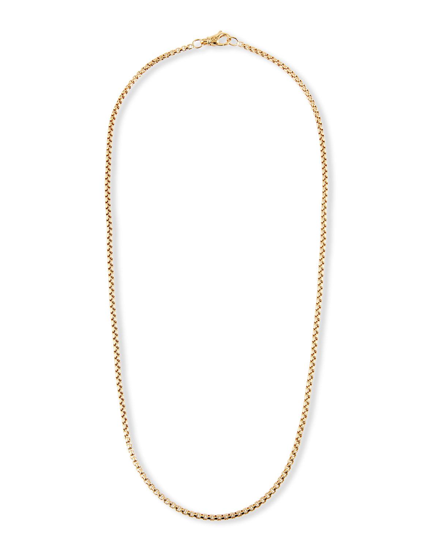 Men's 18k 2.7mm Small Box Chain Necklace