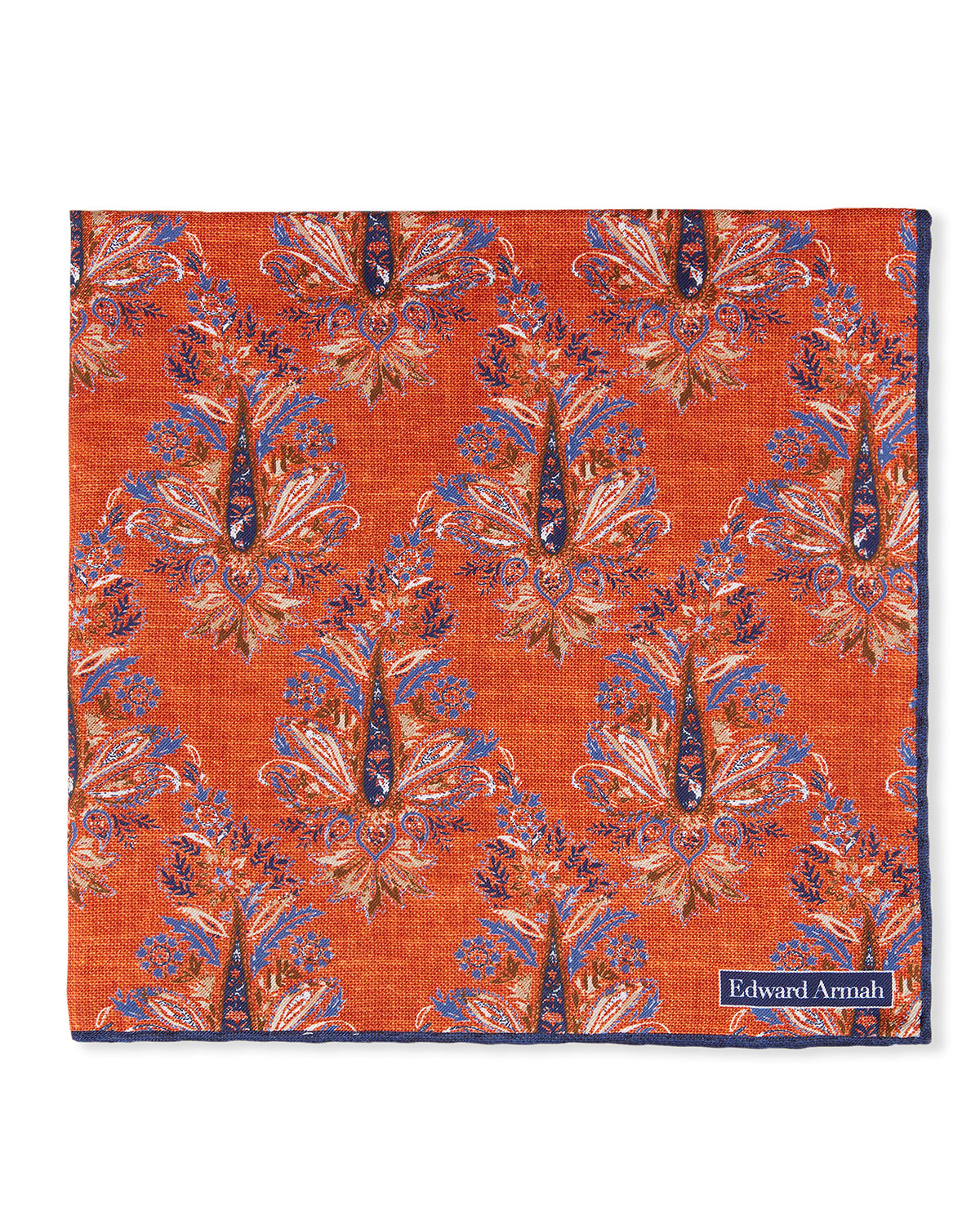 Men's Large Silk Abstract Pocket Square