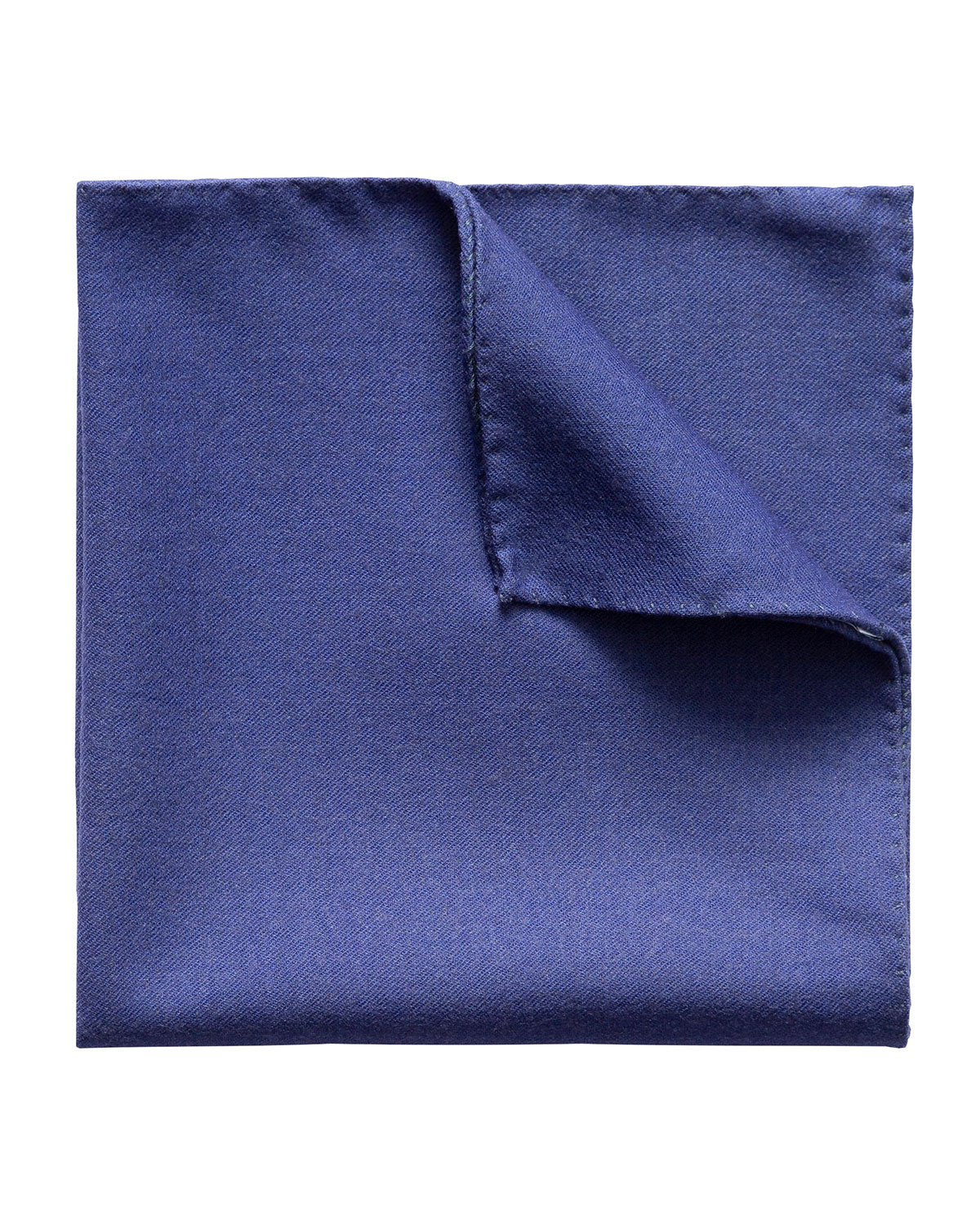 Men's Solid Double-Face Wool Pocket Square