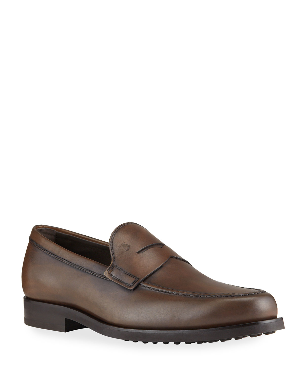 Tod's MEN'S PENNY LEATHER SLIP-ON LOAFERS