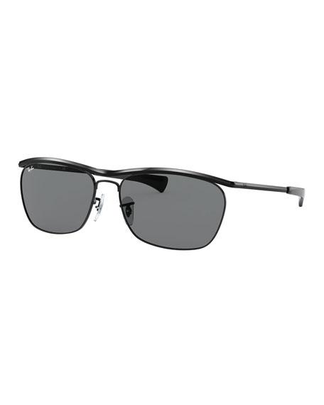 Ray-Ban Men's Olympian II Metal Brow-Line Sunglasses