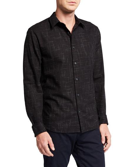 Vince Men's Crosshatch Sport Shirt
