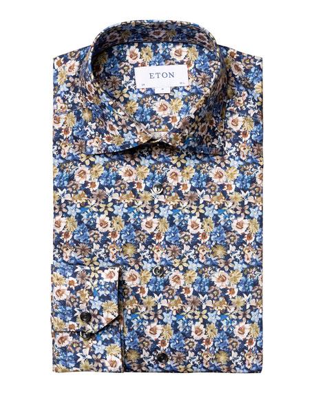 Eton Men's Slim-Fit Floral Dress Shirt