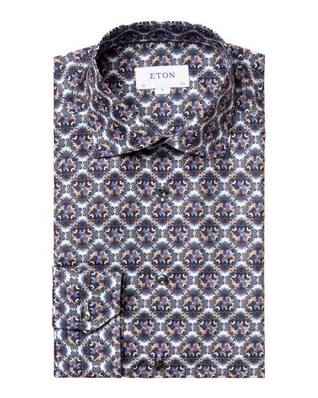 Eton Men's Slim-Fit Medallion-Print Sport Shirt