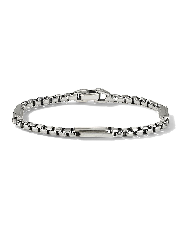 Men's Box Chain 3-Bar Bracelet