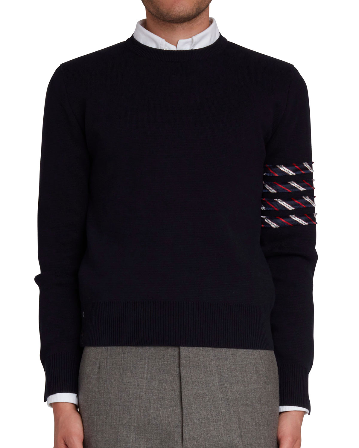 Thom Browne Men's Milano Stitched 4-bar Sweater In Navy