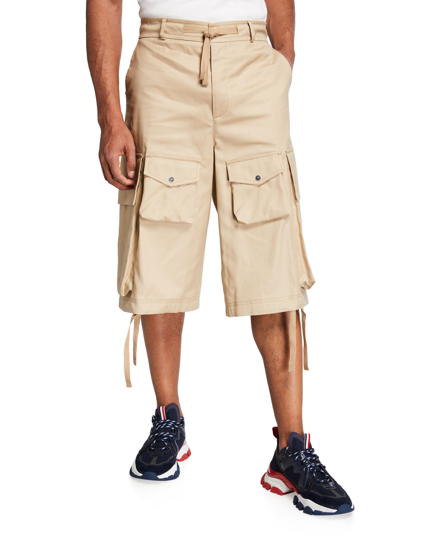 Men's 1952 Long Tie-Bottom Cargo Shorts