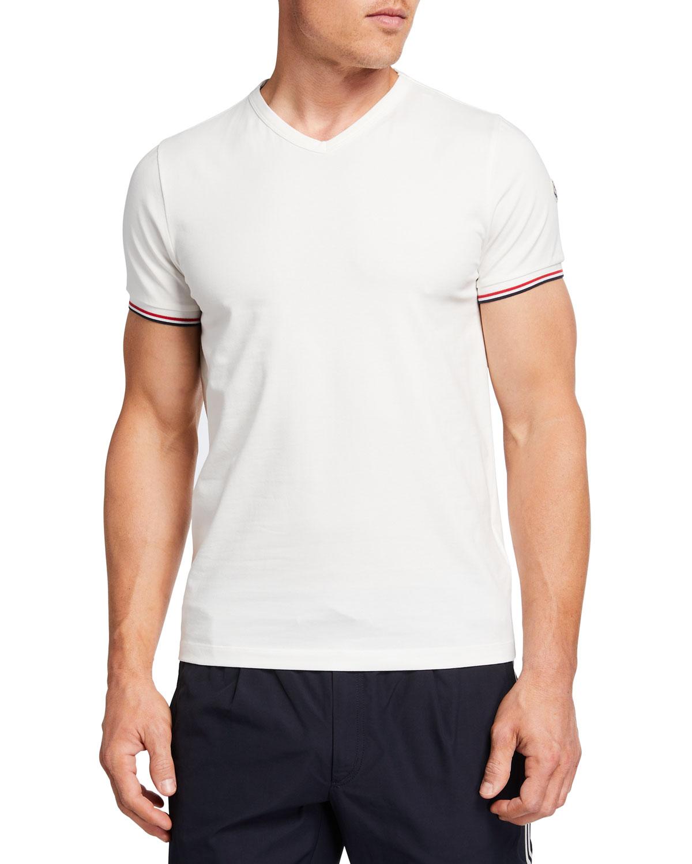Moncler Cottons MEN'S BASIC V-NECK T-SHIRT