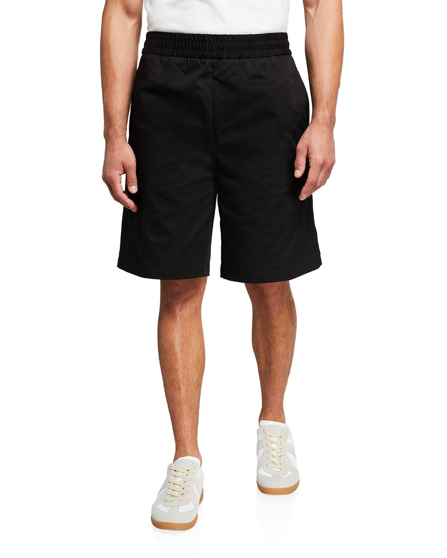 Men's Solid Wide-Leg Bermuda Shorts