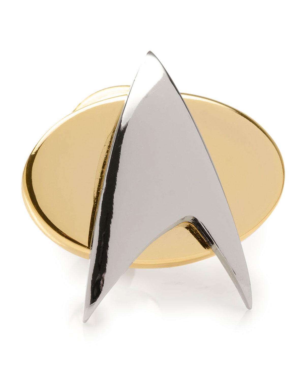 Men's Star Trek Delta Shield Lapel Pin