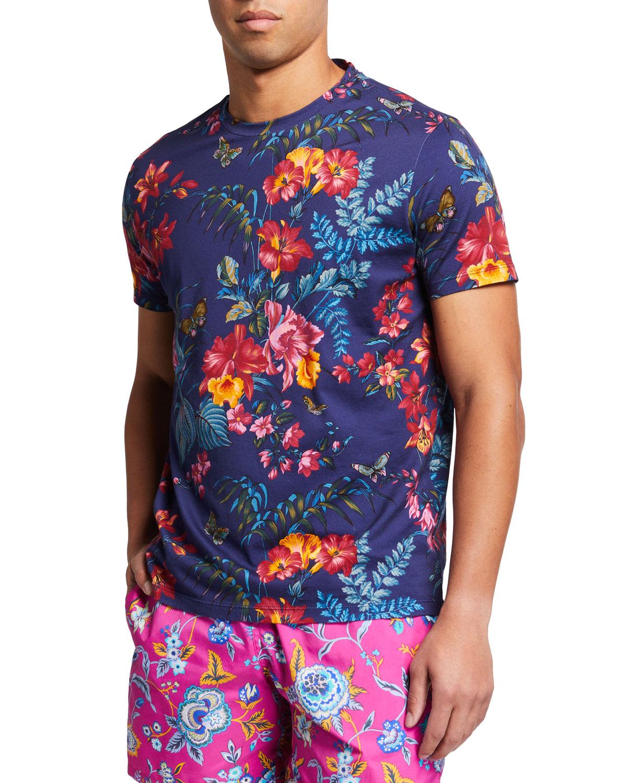 Men's Floral-Print T-Shirt
