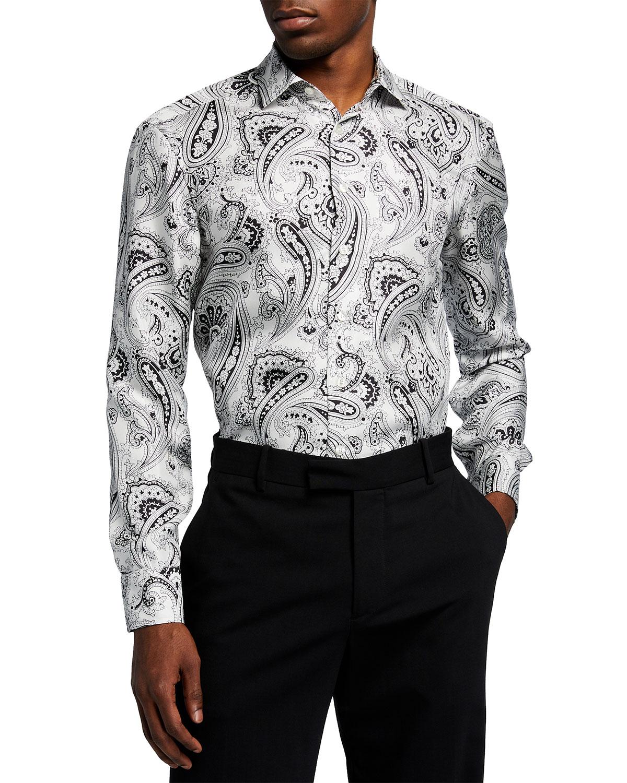 Men's Silk Paisley Sport Shirt