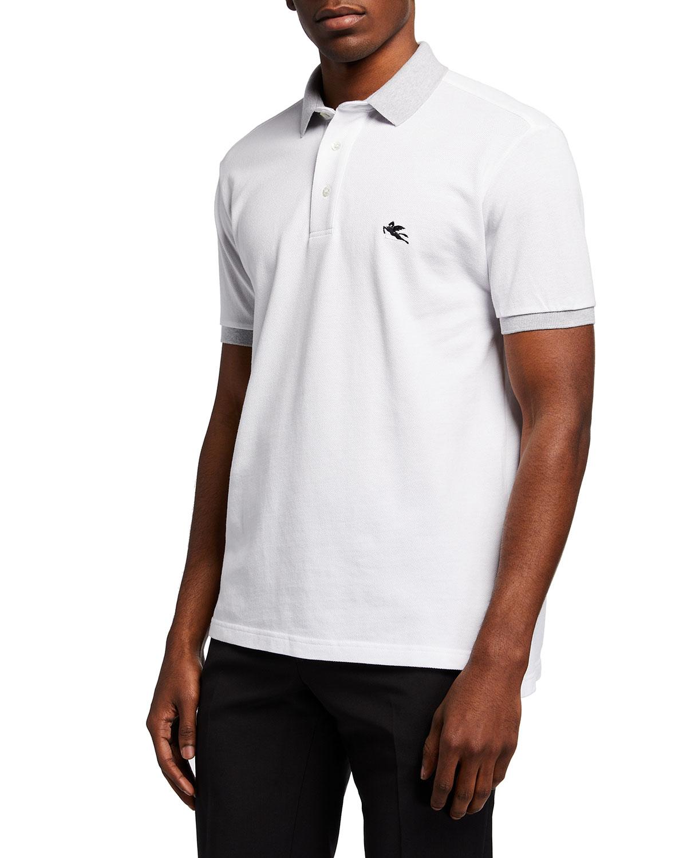 Men's Polo Shirt w/ Contrast Collar