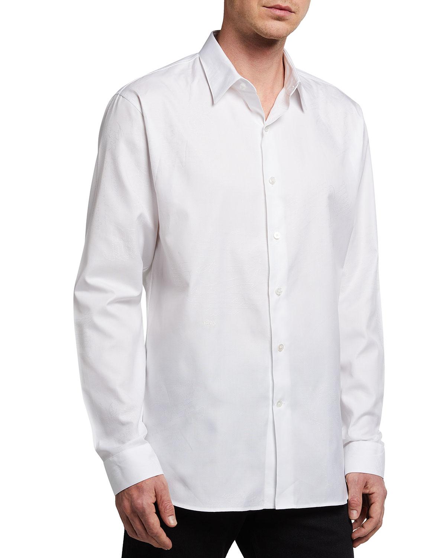 Men's Jacquard Scritto Sport Shirt