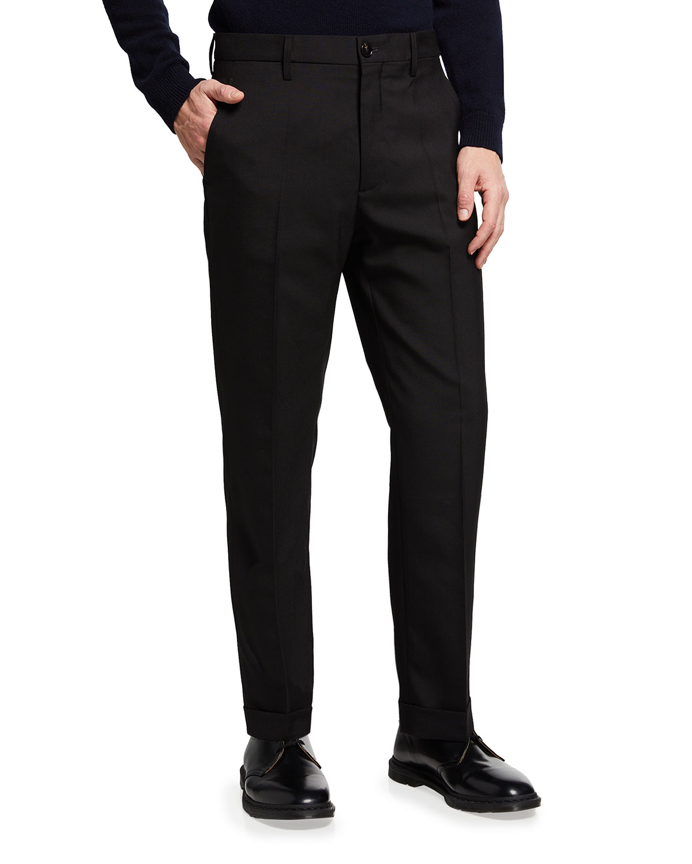 Men's Solid Wool Pants