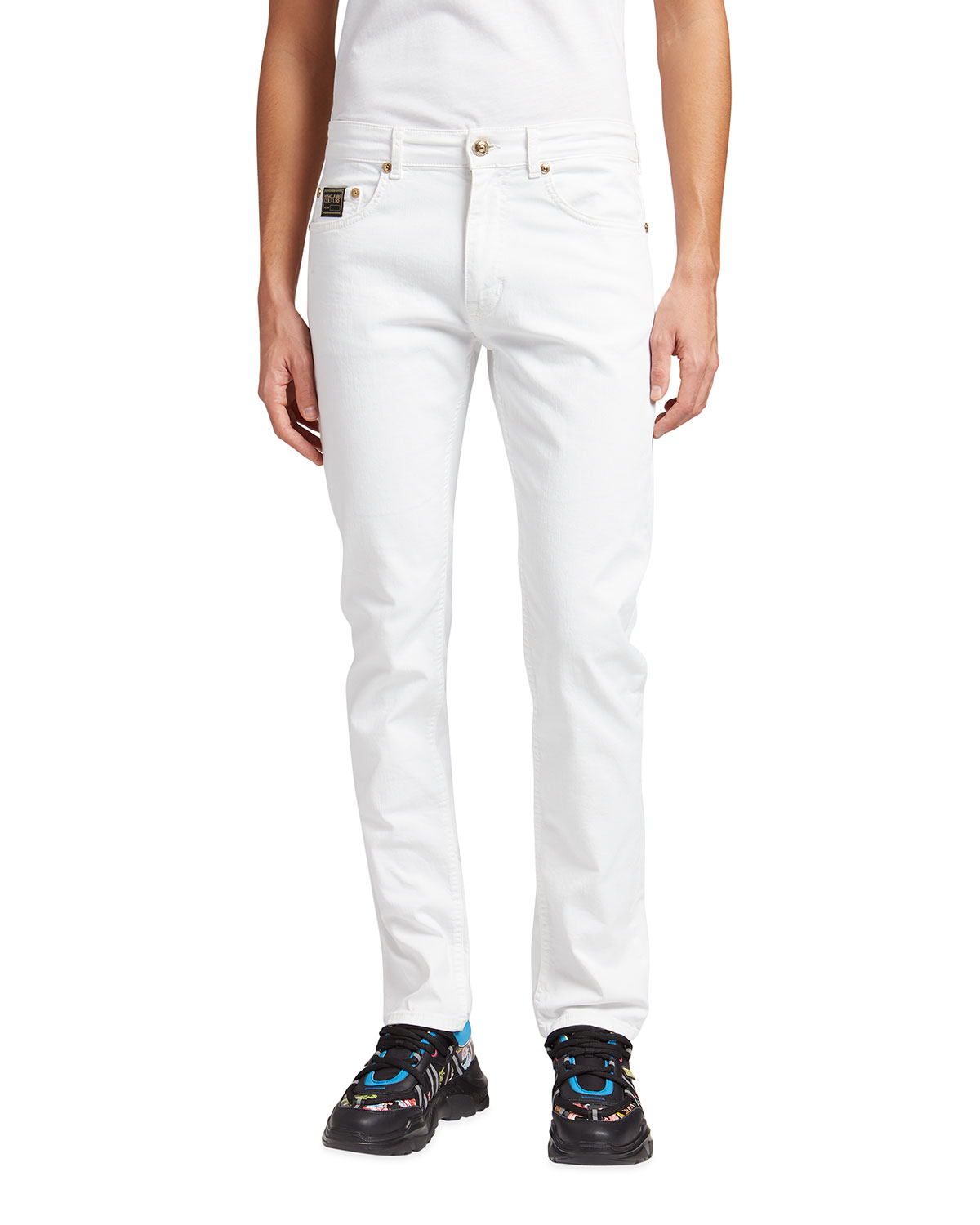 Versace Jeans Couture MEN'S SLIM-STRAIGHT LOGO JEANS