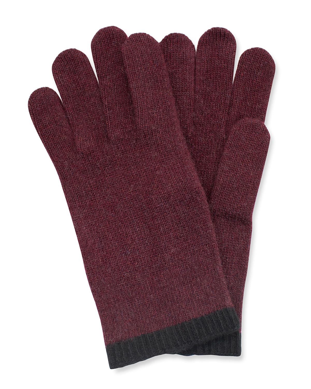 Men's Jersey Cashmere Gloves
