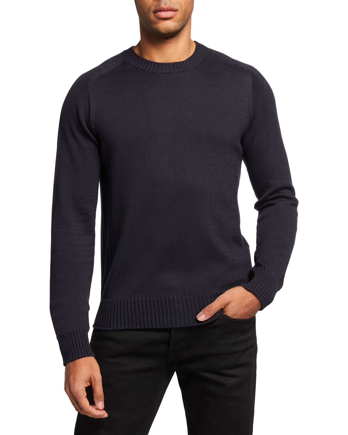 Tom Ford MEN'S SOLID SEAMLESS CREW SWEATER