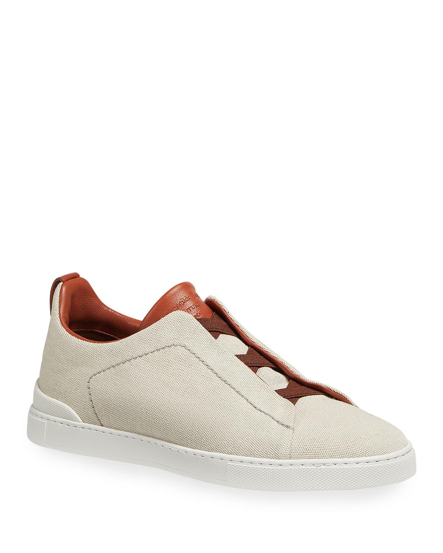 Men's Canvas Slip-On Low-Top Sneakers