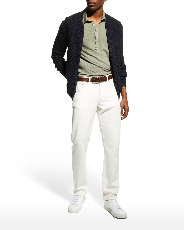Men's Solid Straight-Leg Jeans