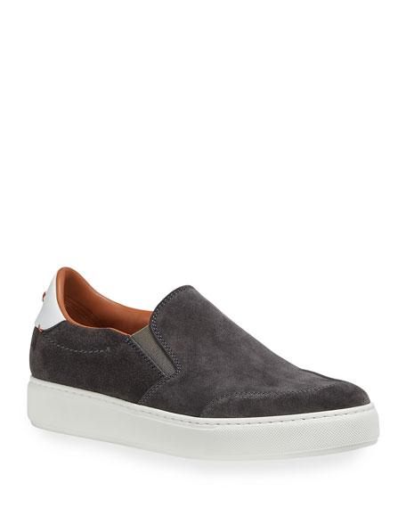 Ermenegildo Zegna Men's Suede Slip-On Sneakers