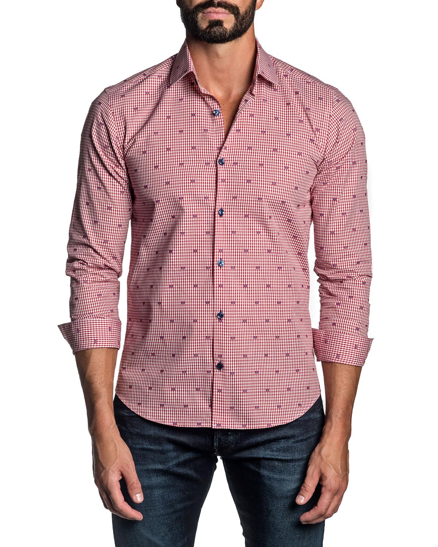 Men's Gingham Check Sport Shirt