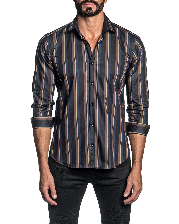 Men's Multi-Stripe Sport Shirt